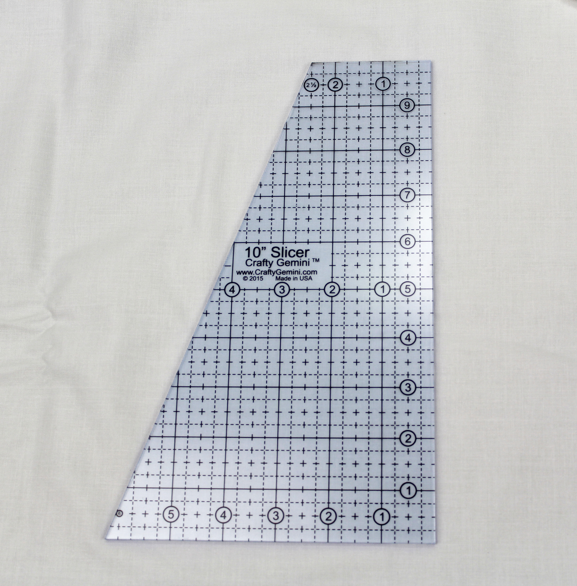 10 Quot Slicer Quilting Ruler Amp Template Crafty Gemini