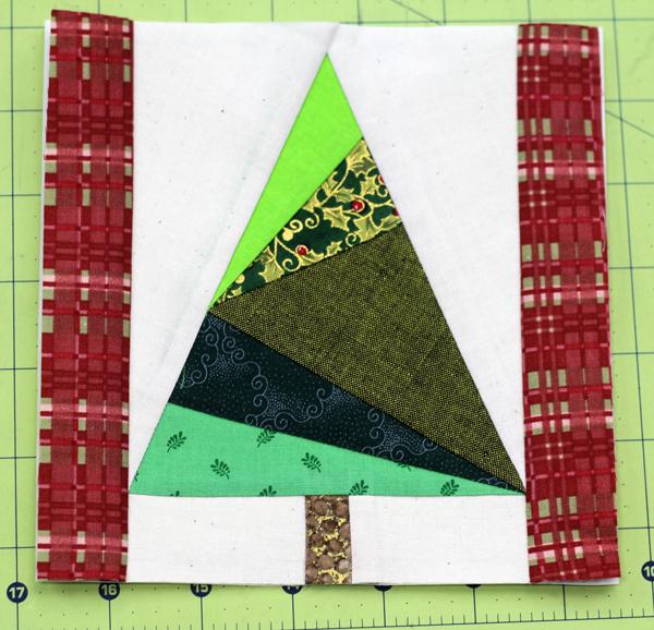 "pine tree 6"" block finished"