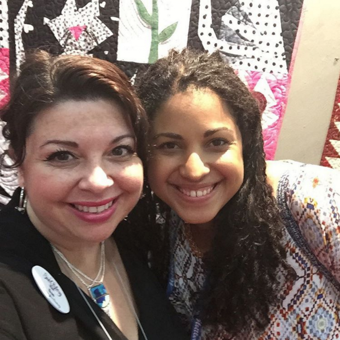 Sue O'Very and Crafty Gemini at Fall Quilt Market 2015 Houston