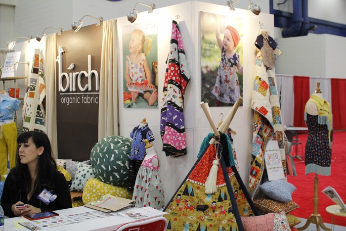 birch organic cotton fabrics at fall quilt market 2015