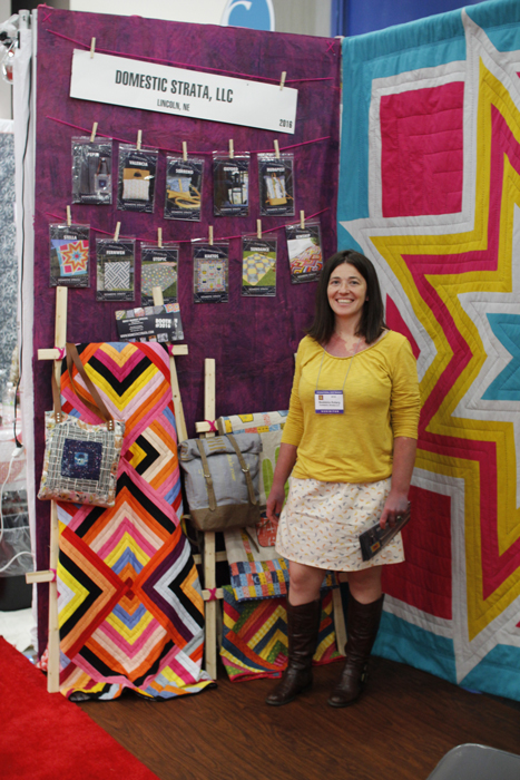 domestic strata booth at fall 2015 quilt market