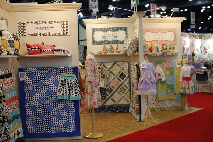 riley blake booth at fall 2015 quilt market