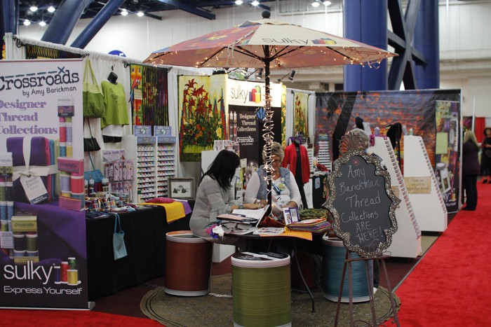 sulky booth at fall 2015 quilt market