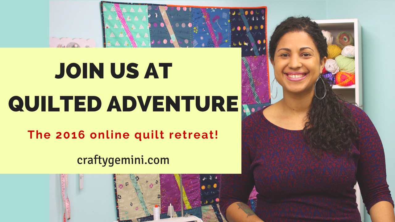 quilted adventure online quilt retreat with crafty gemini
