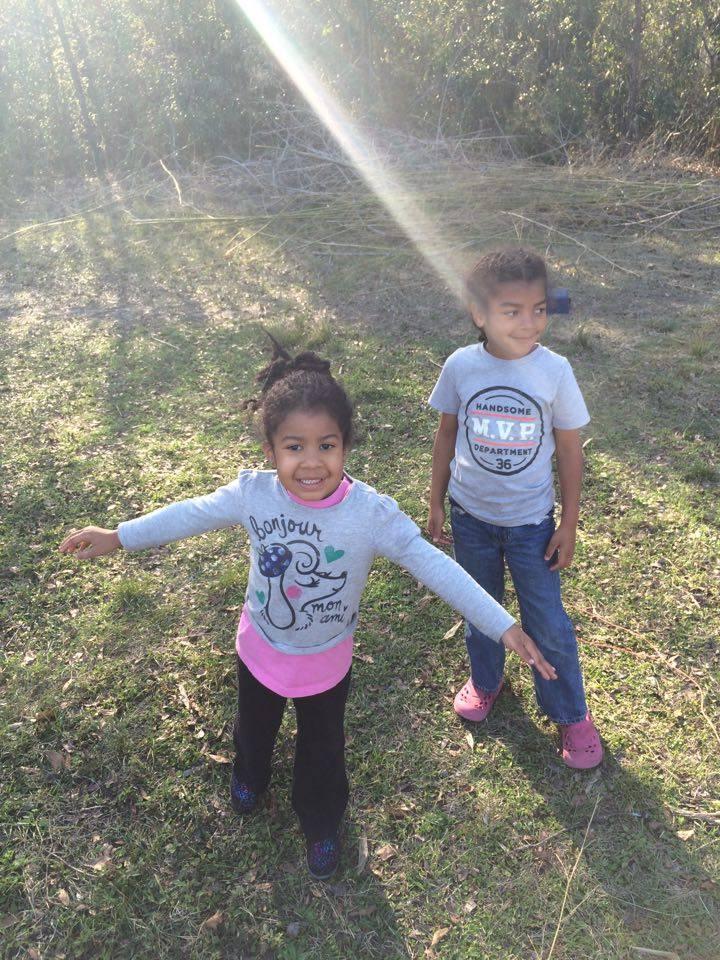 My kids enjoying the perfect Florida winter!