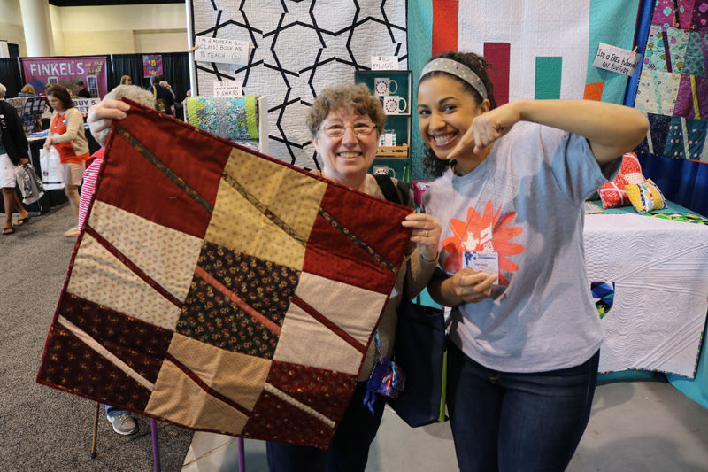 "Diana from NY brought the quilt she made using the 10"" slicer! Amazing work :o)"