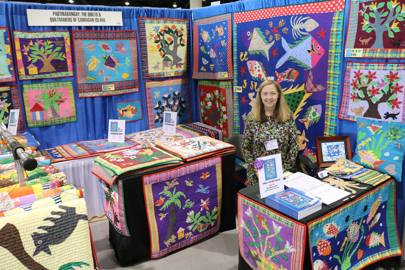 Dana & the gorgeous quilts from Caohagan Island