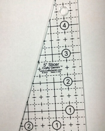 crafty gemini 5 inch slicer quilting ruler template