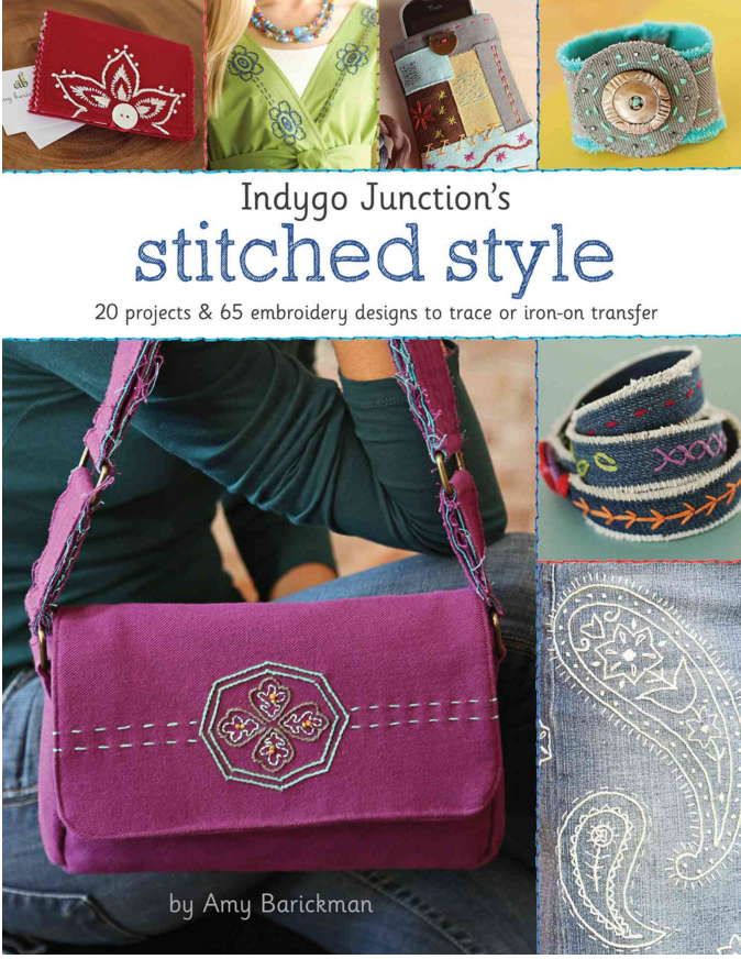 stitched style hand embroider book by indygo junction