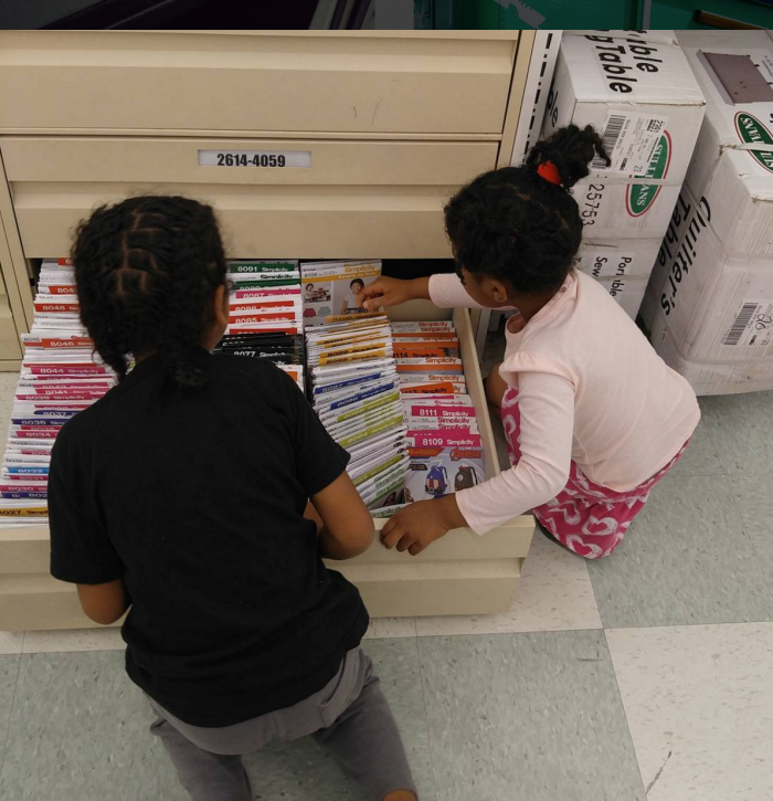 crafty gemini kids sewing simplicity patterns at Joann's