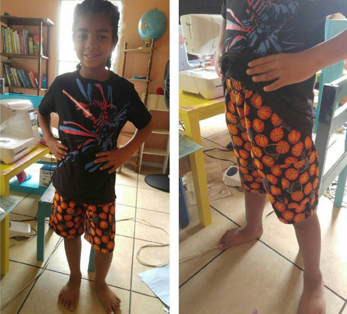 crafty gemini juice boy sewing machine shorts