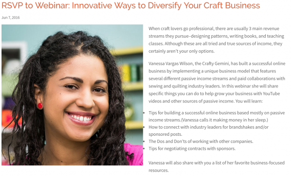 Webinar: Innovative Ways to Diversify Your Craft Business by crafty gemini for Craft Industry Alliance