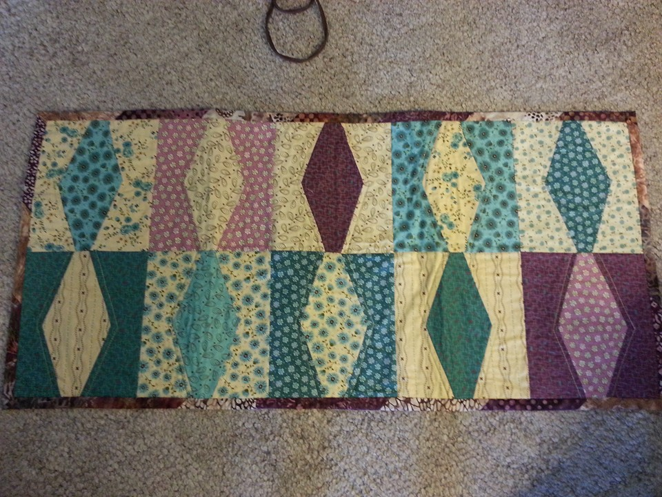 A beautiful table runner made with Crafty Gemini's Five Inch Slicer!