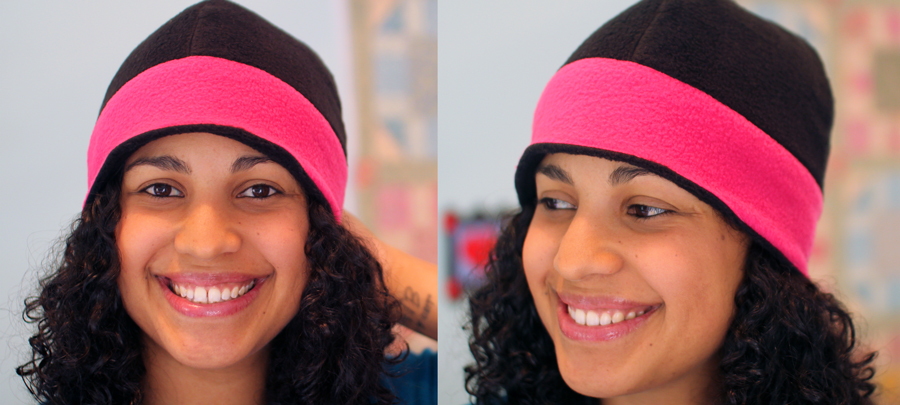 874d1e59277 Reversible Fleece Beanie Hat PDF- Adult   Child sizes - Crafty Gemini