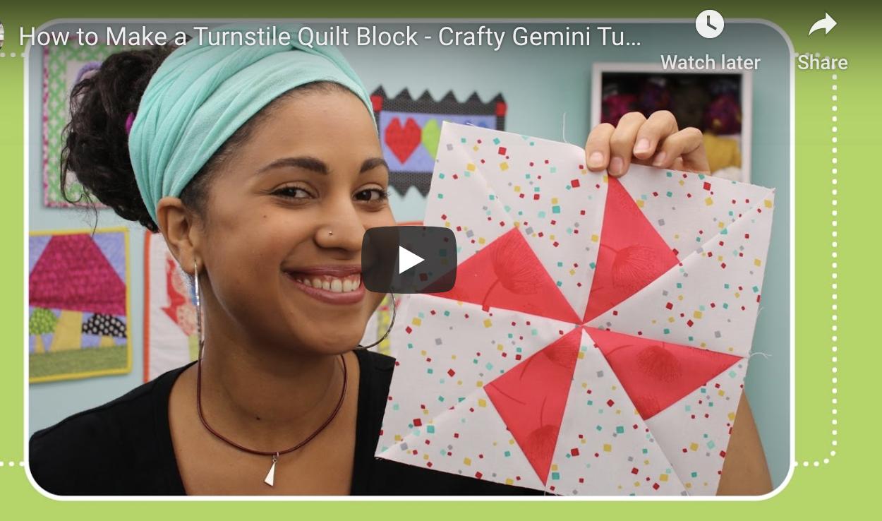 turnstile quilt block tutorial crafty gemini