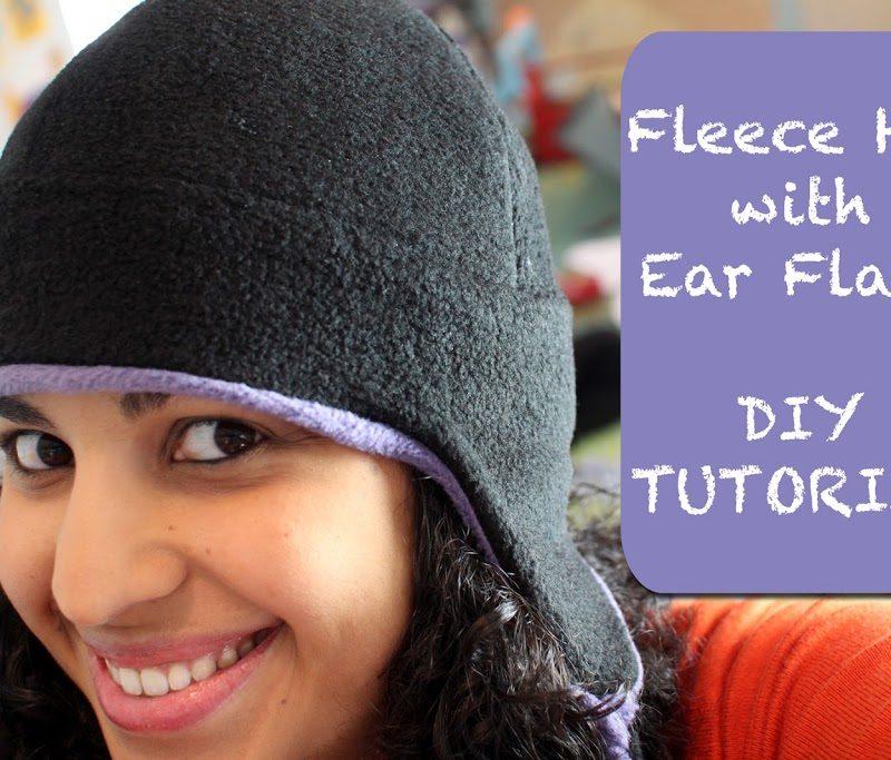 Fleece Hat with Ear Flaps- PDF pattern