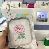 CG Rose Beanstitch embroidery design b crafty gemini
