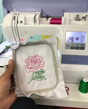 CG Rose Beanstitch embroidery design b crafty gemini