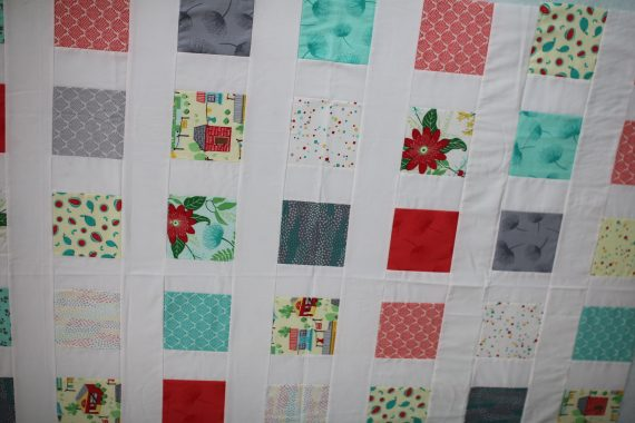 confetti charm quilt by crafty gemini