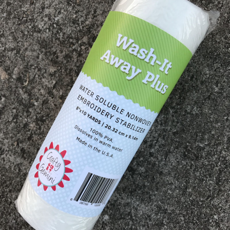 wash away stabilizer for embroidery by crafty gemini
