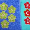Flower-Applique- alphabet letters by crafty gemini