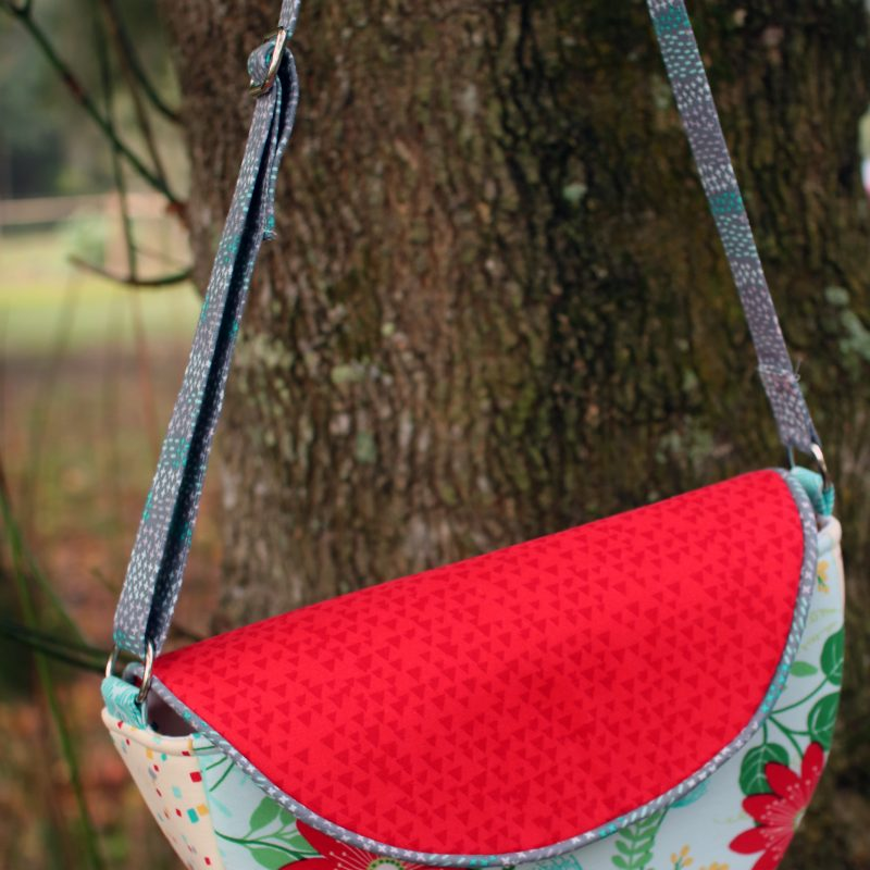 Gracie Saddle Bag by crafty gemini handbag tutorial