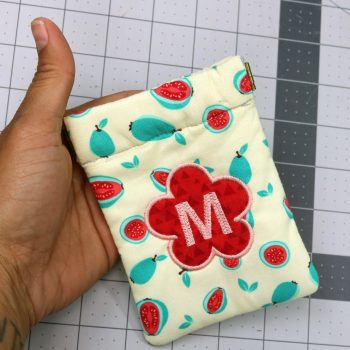 Letter-M-applique embroidery design by Crafty Gemini