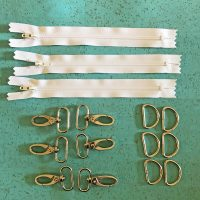 bunny critter zipper in the hoop hardware kit