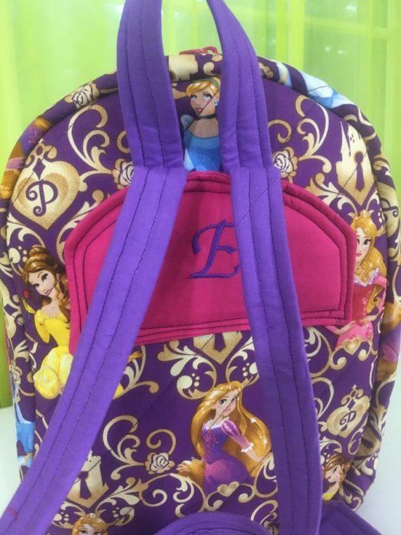Back of Princess Allie Backpack