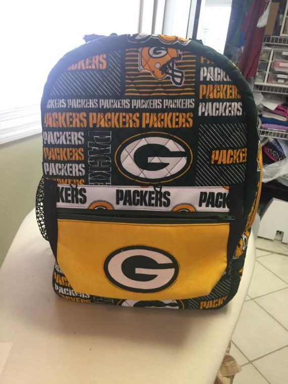 Enlarged Packers Allie Back pack