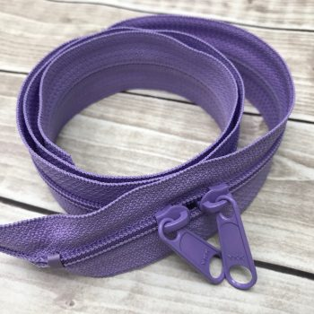 "lavender30"" handbag zipper with double pull"