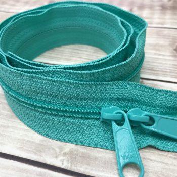"aquamarine ykk 30"" handbag zipper with double pull"