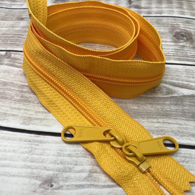 """SUNFLOWER YELLOW ykk 30"""" handbag zipper with double pull"""
