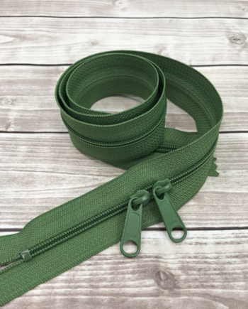 "moss green 30"" zipper"