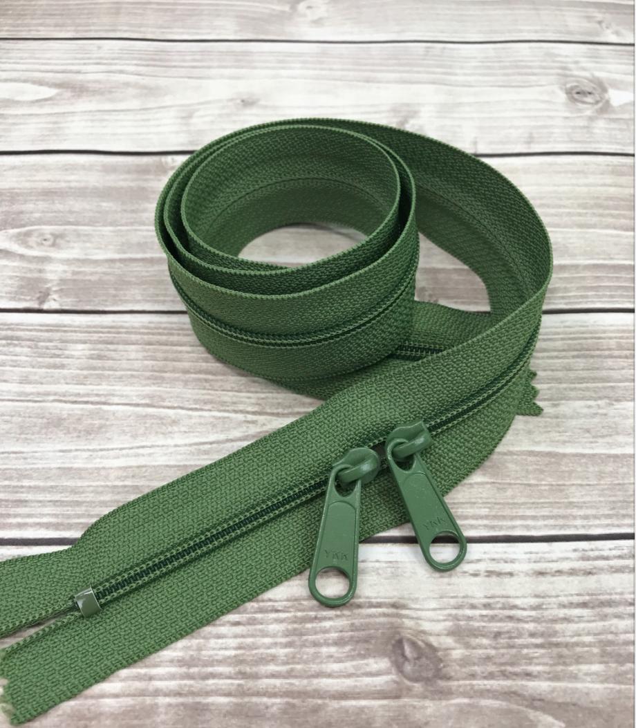 """moss green 30"""" zipper"""