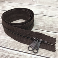 autumn brown zipper 30""