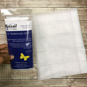 "2.5"" gridded interfacing for sale by craftygemini"