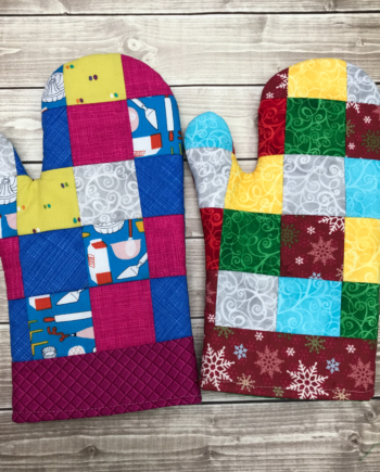 patchwork oven mitt crafty gemini