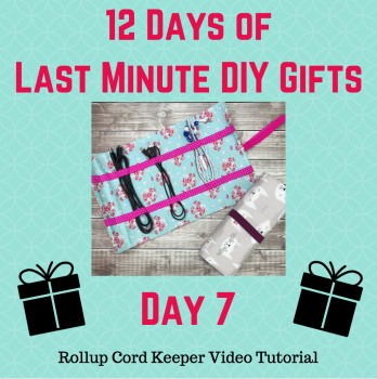 day 7 of 12 days of last minute gifts with crafty gemini rollup cord keeper