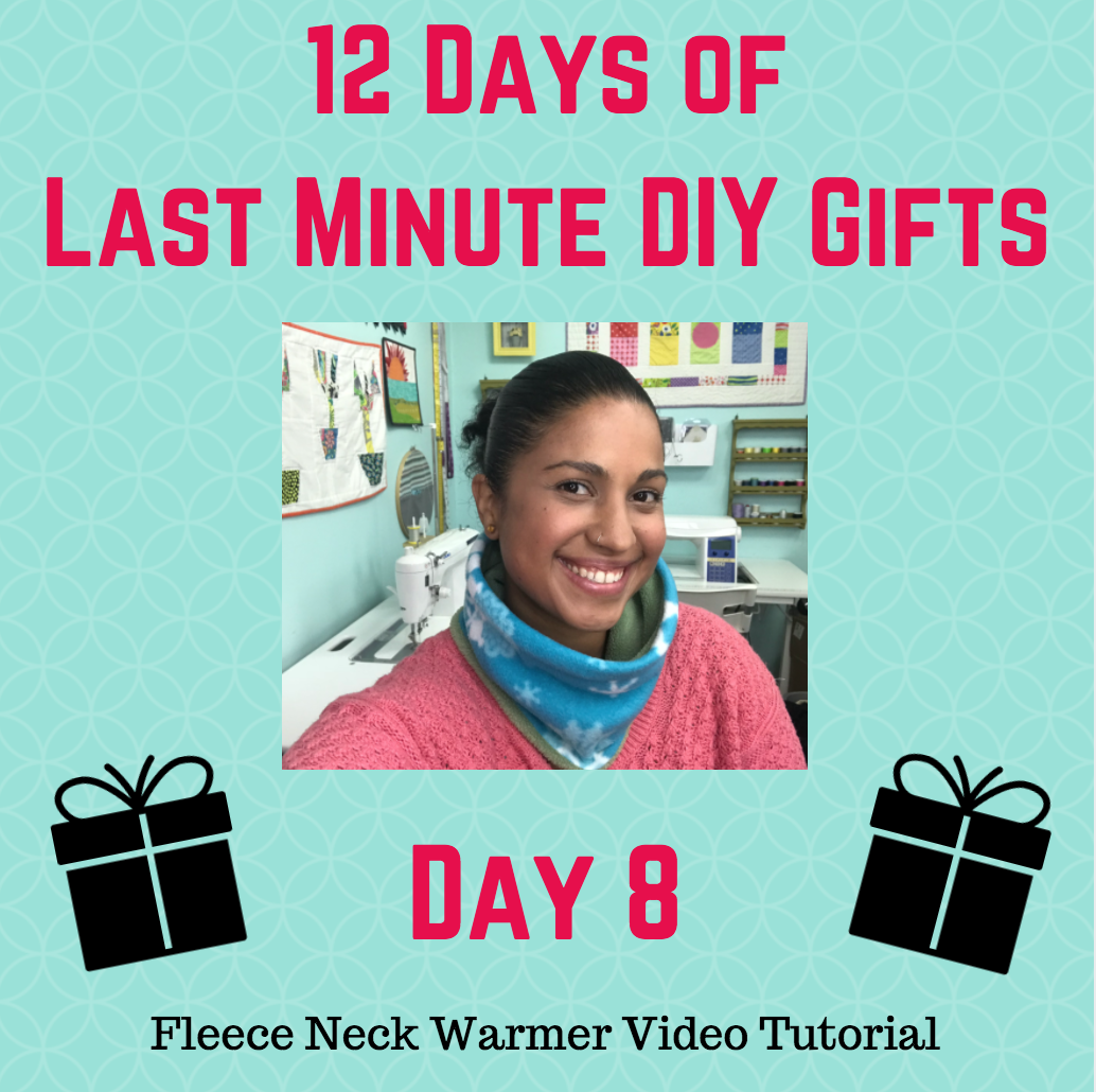 reversible fleece neck warmer video tutorial by crafty gemini