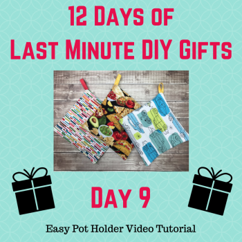 easy pot holder video tutorial with crafty gemini