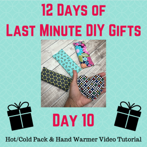 day 10 hot pack cold pack hand warmer video tutorial crafty gemini