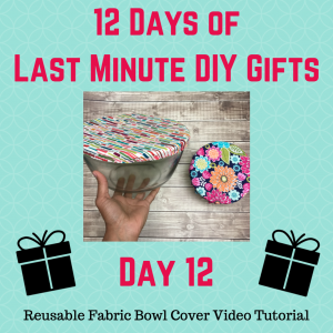 reusable fabric bowl cover video tutorial crafty gemini