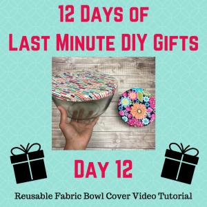 reusable fabric bowl cover video tutorial crafty gemini