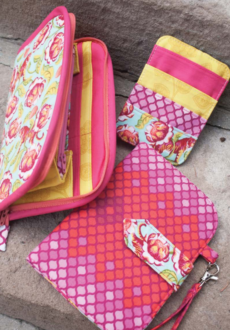 greenbacks wallet trio course by crafty gemini and pattern by sew sweetness