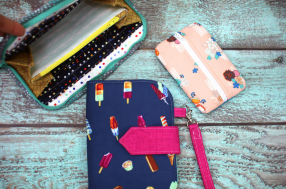 greenbacks trio wallet by sew sweetness and video course by crafty gemini