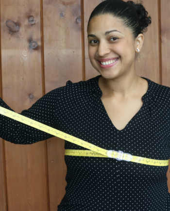 "CLIP & slide 60"" measuring tape"