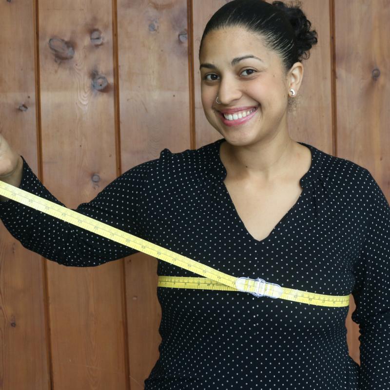 "CLIP & slide 60"" measuring tape"
