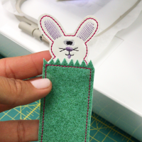 crafty gemini bunny bookmark