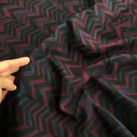 dark chevron rayon challis fabric
